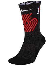 Nike Men's Portland Trail Blazers Elite Team Crew Socks