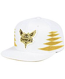 Mitchell & Ness Charlotte Hornets Gold Diamonds Snapback Cap