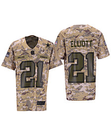 Nike Ezekiel Elliott Dallas Cowboys Salute To Service Game Jersey 2018, Big Boys (8-20)