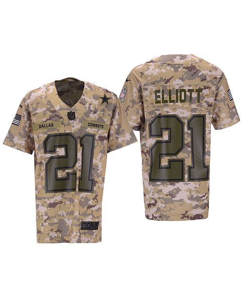 finest selection 8f7b3 a18ef Nike Ezekiel Elliott Dallas Cowboys Salute To Service Game ...