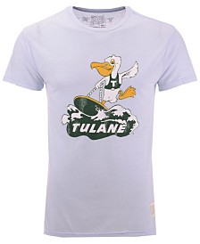 Retro Brand Men's Tulane Green Wave Retro Logo Tri-Blend T-Shirt