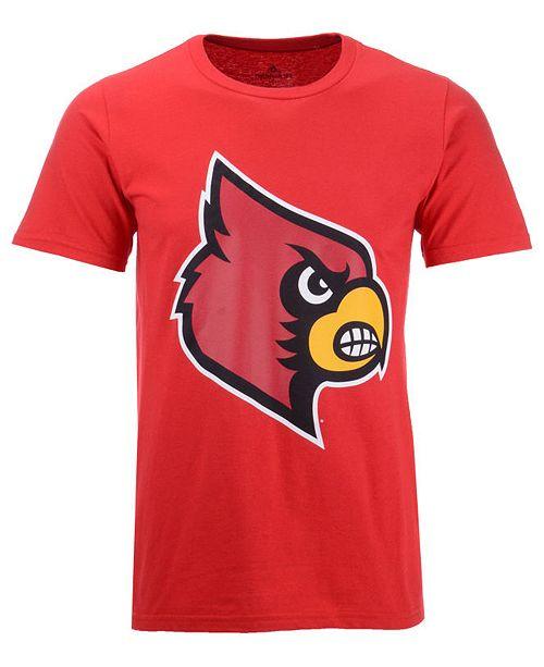 adidas Men's Louisville Cardinals Branded Big Logo T-Shirt