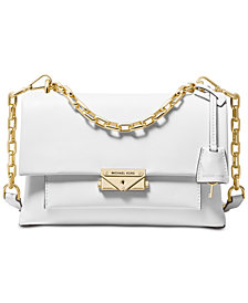 MICHAEL Michael Kors Cece Polished Leather Chain Small Shoulder Bag