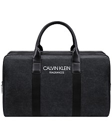 Receive a Complimentary Duffle Bag with any large spray purchase from the Calvin Klein Men's fragrance collection