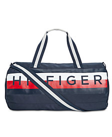 Tommy Hilfiger Men's Taha Global Stripe Logo Duffel Bag, Created for Macy's