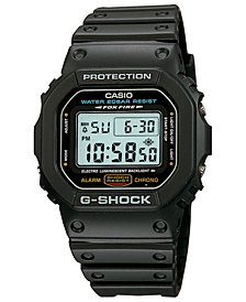 G-Shock Men's Digital Black Resin Watch 42.8 Gift Set, Created for Macy's