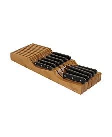 Oceanstar In-Drawer Bamboo Knife Organizer