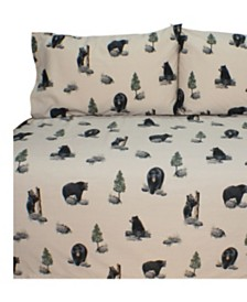 Blue Ridge Trading The Bears Queen Sheet Set