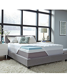 """3.5"""" Comforpedic from Beautyrest Gel Twin Memory Foam with Fiber Topper Cover"""