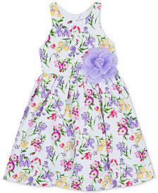 Rare Editions Toddler Girls Floral-Print Fit & Flare Dress