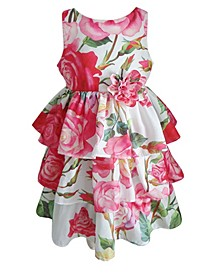 Little Girls Hot Pink Flower Dress