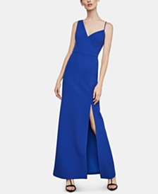 BCBGMAXAZRIA Asymmetrical-Neck Gown