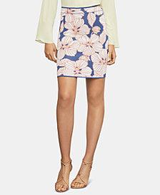 BCBGMAXAZRIA Floral Jacquard Mini Skirt