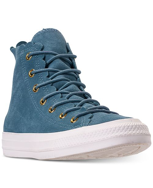 316b07c396 Converse Women's Chuck Taylor All Star High Top Frilly Thrills ...