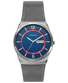 Skagen Men's Melbye Gunmetal Stainless Steel Mesh Bracelet Watch 40mm