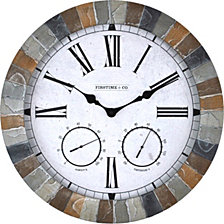 FirsTime and Co. The Garden Stone Outdoor Clock