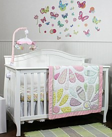 Nurture Butterflies and Daisies 3 Piece Bedding Set