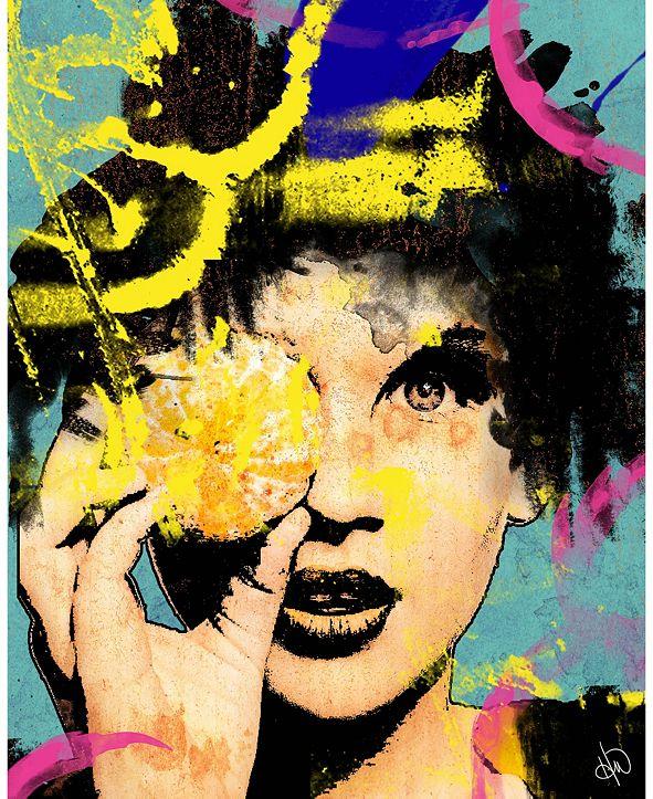 "Creative Gallery Orange Inspiration Abstract of Woman 24"" x 36"" Acrylic Wall Art Print"