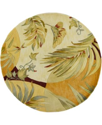 "Sparta Breezes 3113 Coral/Ivory 7'6"" Round Area Rug"