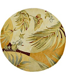 """Sparta Breezes 3113 Coral/Ivory 7'6"""" Round Area Rug"""