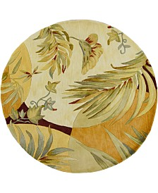 "KAS Sparta Breezes 3113 Coral/Ivory 7'6"" Round Area Rug"
