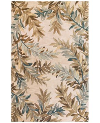 "Sparta Tropical Branches 5'3"" x 8'3"" Area Rug"