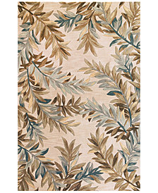 "KAS Sparta Tropical Branches 2'6"" x 10' Runner Area Rug"