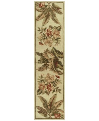 """Sparta Tropical Oasis 3133 Ivory 2'6"""" x 10' Runner Area Rug"""