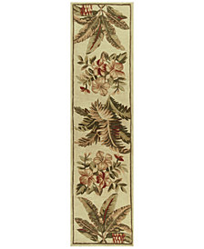 "KAS Sparta Tropical Oasis 3133 Ivory 2'6"" x 10' Runner Area Rug"
