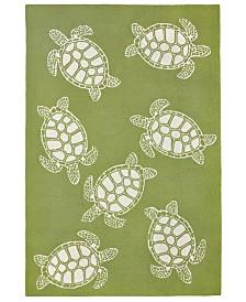 Liore Manne' Capri 1634 Turtle 2' x 5' Indoor/Outdoor Area Rug