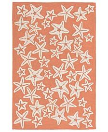 Liore Manne' Capri 1667 Starfish 2' x 5' Indoor/Outdoor Area Rug