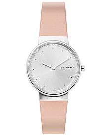 Women's Annelie Blush Leather Strap Watch 34mm