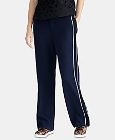 RACHEL Rachel Roy Piped-Trim Pants
