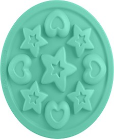 "Trudeau 9"" Structure Cookie Pan Stars and Hearts"