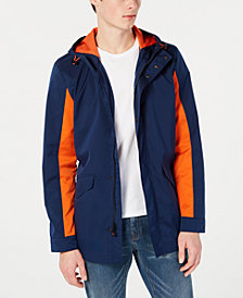 Calvin Klein Men's 3/4 Length Athleisure Colorblocked Hooded Jacket