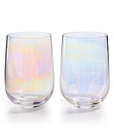Iridescent Stemless Glasses, Set of 4, Created for Macy's