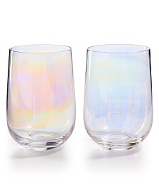 The Cellar Iridescent Stemless Glasses, Set of 4, Created for Macy's