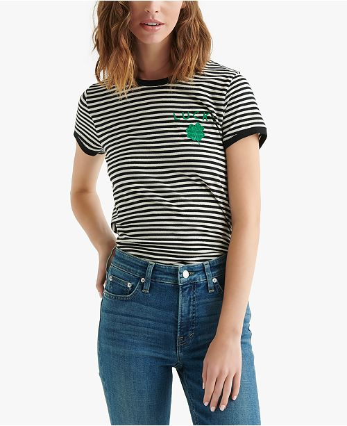 Lucky Brand Striped St. Patrick s Day T-Shirt - Tops - Women - Macy s 85369a205