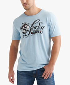 Lucky Brand Men's Script Logo Graphic T-Shirt