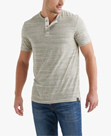 Lucky Brand Men's Space Dyed Henley