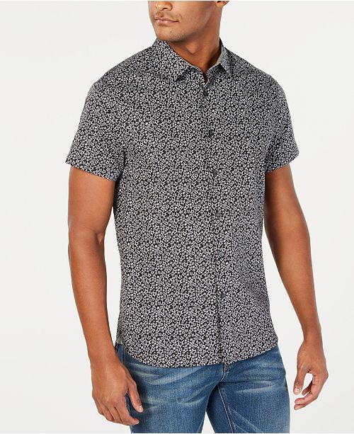 Kenneth Cole Men's Star-Print Shirt