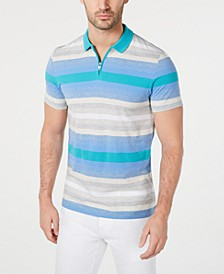 Men's Regular-Fit Yarn-Dyed Stripe Polo, Created for Macy's