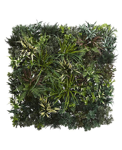 Nearly Natural 3' x 3' Greens and Fern Artificial Living Wall UV Resist