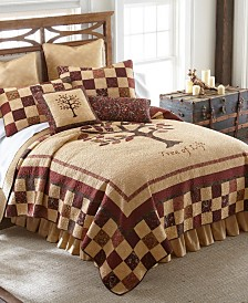 Autumn Tree Of Life Cotton Quilt Collection, Queen
