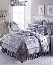 Lavender Rose Cotton Quilt Collection, Queen