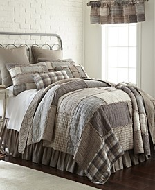 Smoky Cobblestone Cotton Quilt Collection, Queen