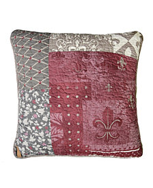Fleur De Lis Square Decorative Pillow