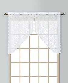 """New Rochelle 56"""" X 38"""" Pair Of Kitchen Swags"""