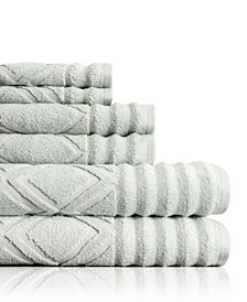 Prescott 6 Piece Textured Towel Set