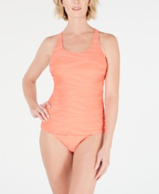 GO by Gossip Ribbed Tankini Top & Bikini Bottoms